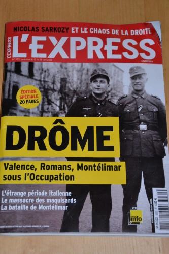 l'express, romans sur isère, ww2, vercors, résistance, guerre 39 45, militaire, armée, occupation , bourg de péage,