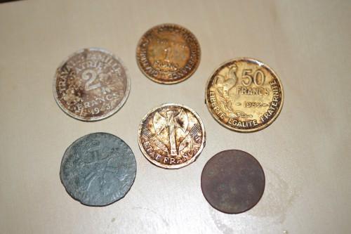 fouille vercors, détection, détecteur de métaux, fouille en vercors, autrans, pièces, pièces de fouille, liard, francs, monnaies anciennes